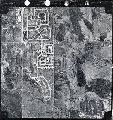 Harwood Avenue - Shopping Plaza, c. 1962 - Ajax- Aerial Photograph