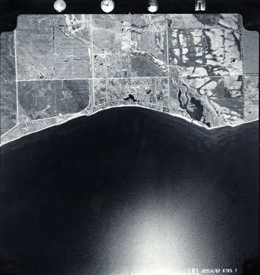 Lake Ontario - Shoreline, c. 1962 - Ajax - Aerial Photo