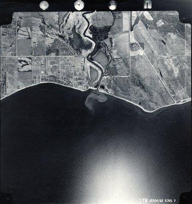 Lake Ontario - Duffins Creek - Shoreline - Ajax - Aerial Photo