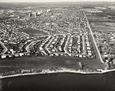 Lake Ontario - Pickering Beach Road - Ajax- Aerial Photograph