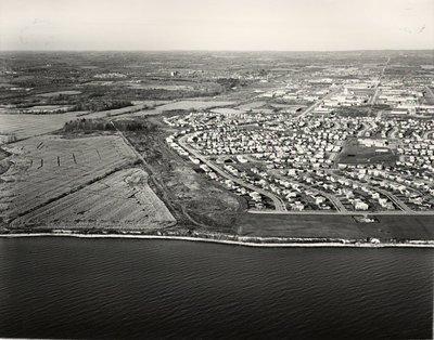 Lake Ontario - Shoreline, c. 1984 - Ajax - Aerial Photo