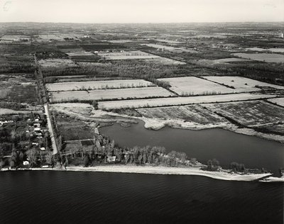 Lake Ontario - Shoreline, c. 1984 - Ajax - Aerial Photo
