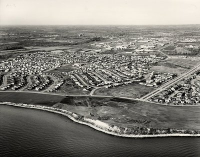 Lake Ontario- Harwood Avenue, c. 1984 - Ajax- Aerial Photograph