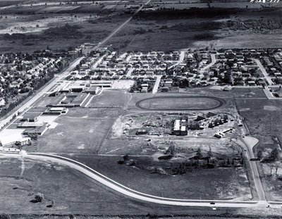 Ajax High School - Harwood Avenue - Aerial Photo