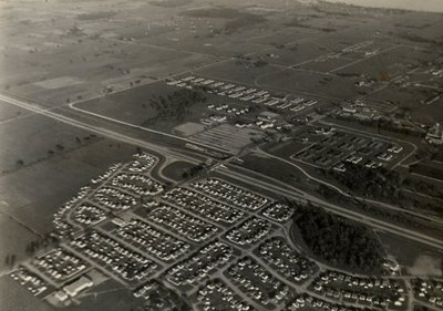 Harwood Avenue - Macdonald-Cartier Freeway - Defence Industries Limited - Aerial Photograph - Ajax