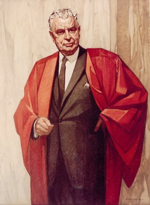 The Right Honourable John G. Diefenbaker, offical portrait by Cleeve Horne