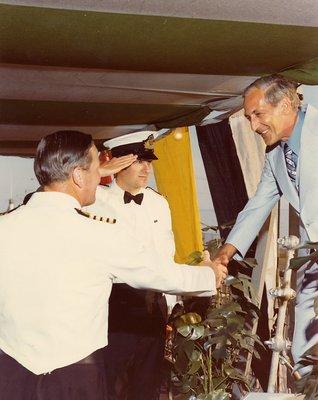 HMS Ajax, 1963 - Mayor Mason boarding -  Capt. Squires - Lt. Prendergast