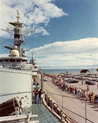 HMS Ajax, 1963 - Public opening at Oshawa Harbour