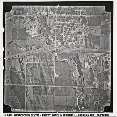Church St. - Highway 401 - Ajax-Pickering Village- Aerial Photograph