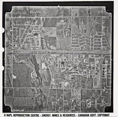 Duffins Creek - Highway 401- Harwood Ave.- Ajax - Aerial Photograph