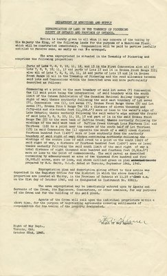 Department of Munitions and Supply-Memo