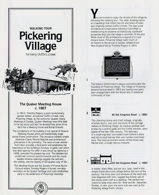 Walking Tour Pickering Village Formerly Duffin's Creek