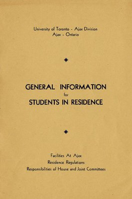 General Information for Students in Residence