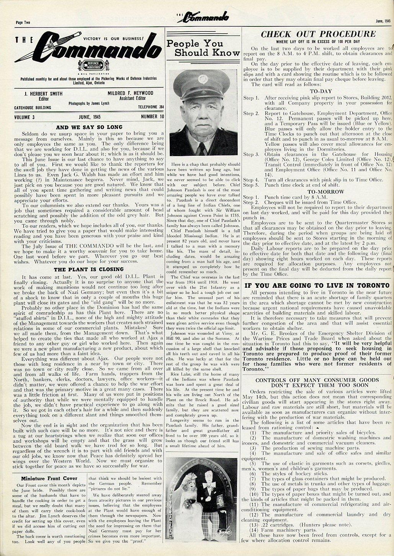 The Commando Ajax Ontario June 1945 Volume 3 No. 11