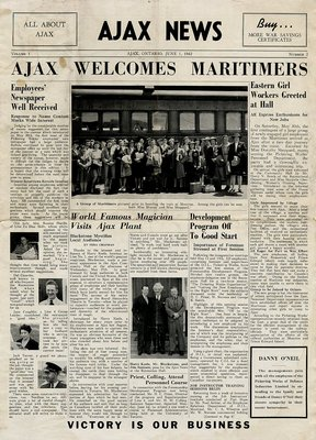 Ajax News Ajax Ontario June 1, 1942 Volume 1 No. 2