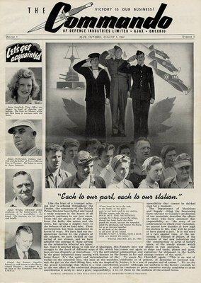 The Commando Ajax Ontario August 5, 1942 Volume 1 No. 3