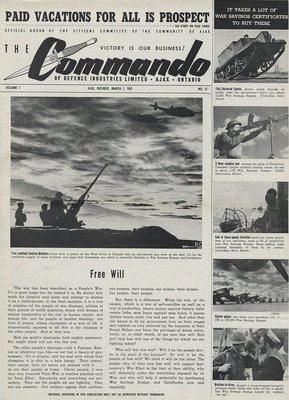 The Commando Ajax Ontario March 1, 1943 Volume 1 No. 12