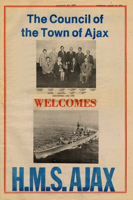 Pickering Bay News Wednesday, August 25, 1976 Welcome to the H.M.S. Ajax