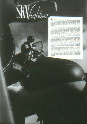 Air Fighters Insert in The Commando Ajax Ontario April 1944 Volume 2 No. 9