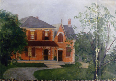 Canvas oil painting of 290 Harwood Ave.