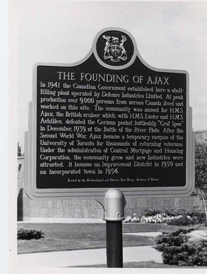 Ajax Historic Plaque Ceremonies