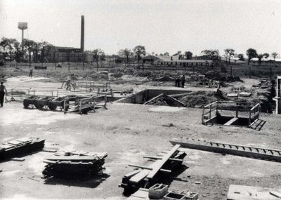 Construction of the old plaza