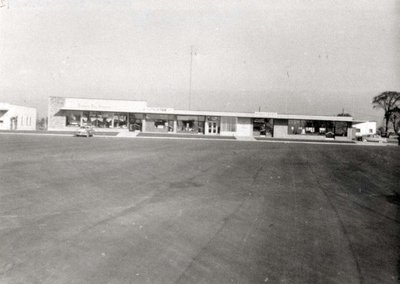 The old plaza on Harwood Ave.