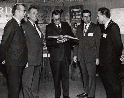 H.S. Polak, Dana Grant, Lou Perini Jr. and Mayor LeGros at Index '69