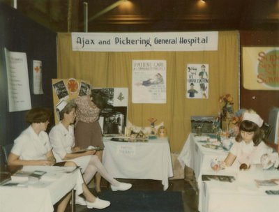 Ajax and Pickering General Hospital display at Index '69