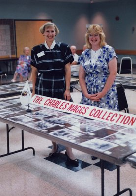 Cathy Dancey and Diane Merchand at the Charles Maggs Collection.