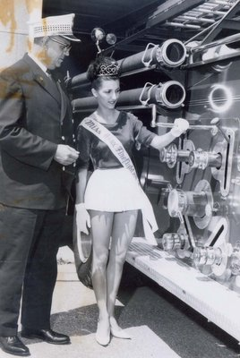 Chief Cam Adams and Miss Ajax Firefighter 1965