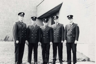 Members of the Ajax Fire Department