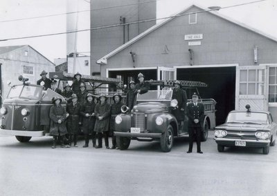 Old Fire Hall with volunteer firefighters