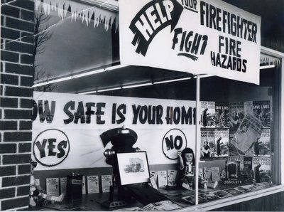 Ajax Fire Prevention Week storefront
