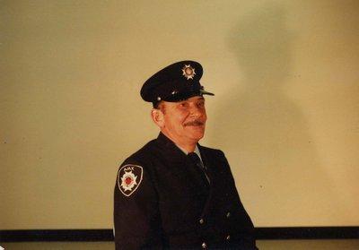 Firefighter Ralph McFarlane