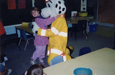 Sparky visiting Lord Durham Public School