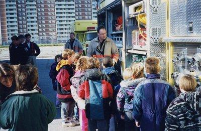 Fire truck at Lord Durham Public School