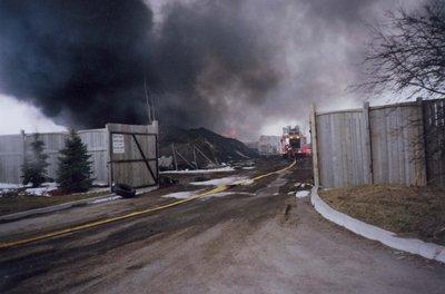 Ajax Auto Recycling fire