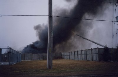 Fire at the Ajax Auto Recycling location