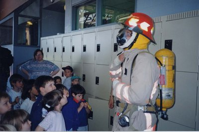 School children on tour at the Ajax Fire Station