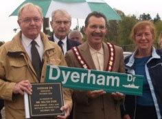 Ajax Veterans Street Dedication: Dyerham Drive