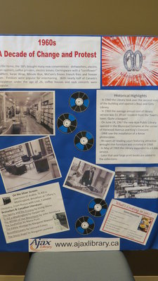 Ajax Public Library 60th Anniversary Memory Board 1960's
