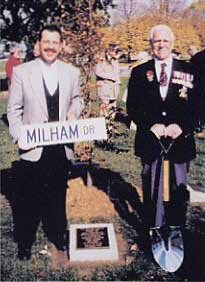 Ajax Veterans Street Dedication: Milham Drive