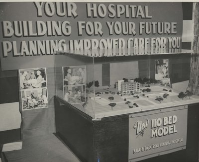 A model of the new hospital