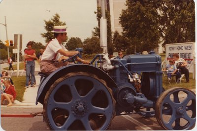 The Ajax Historical Board's tractor float