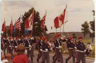 The Royal Canadian Legion marching in the parade