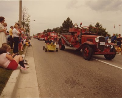 Old Fashioned Fire Trucks