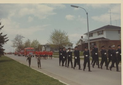 Firefighters Marching in a Parade