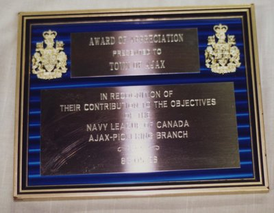 Navy League of Canada Plaque