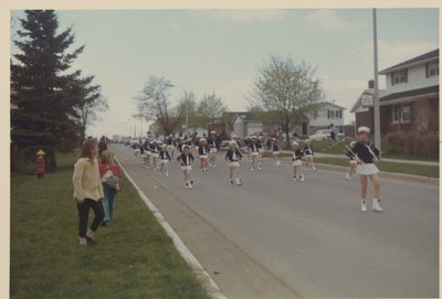 Baton Twirlers in the Parade